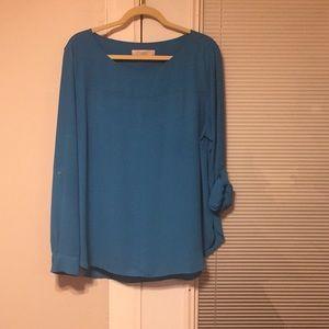 Bright blue Loft blouse